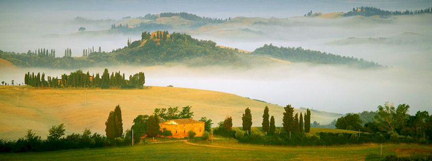 Val d'Orcia  Valdorcia of Tuscany, Italy